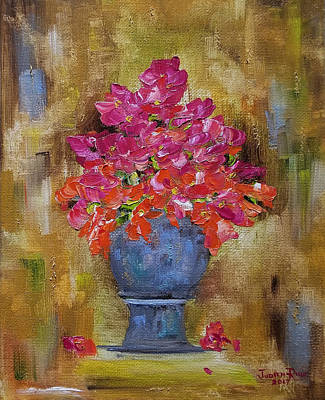 Painting - Begonia Justice by Judith Rhue