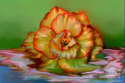Digital Art - Begonia by Lisa Redfern