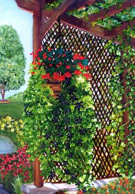 Painting - Begonias Amid The Vines by Susan Dehlinger
