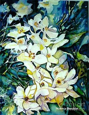 Begonia Garden Painting - Begonias by Norma Boeckler