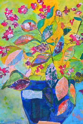Mixed Media - Begonias by Paper Jewels By Julia Malakoff