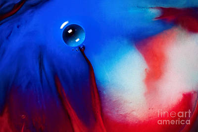 Behind Blue Eye Art Print