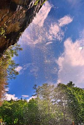Photograph - Behind Bridal Veil Falls Highland Nc by Lisa Wooten