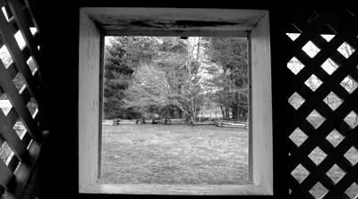 Photograph - Behind Cable Mill House Black And White by Judy Wanamaker