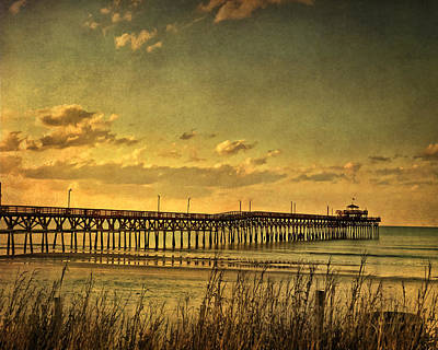 Behind Cherry Grove Pier  Art Print by Trish Tritz