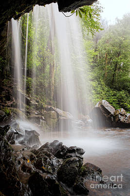 Photograph - Behind Grotto Falls by Jemmy Archer