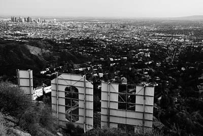 Behind Hollywood Bw Art Print