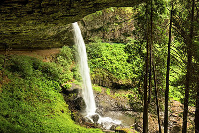 Photograph - Behind North Silver Falls by Mary Jo Allen