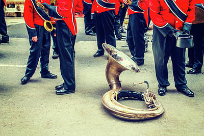 Photograph - Behind Scene - Sousaphone Life by Alexander Image