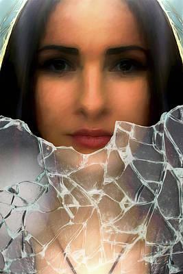 Digital Art - Behind Shattered Glass by John Haldane