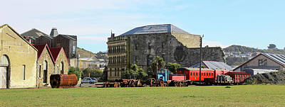 Photograph - Behind Steampunk Hq Oamaru by Nareeta Martin