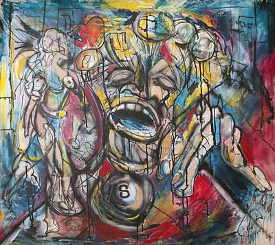 Pollack Painting - Behind The 8 Ball  by Jon Baldwin  Art
