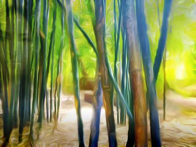 Wall Art - Digital Art - Behind The Bamboos by Abstract Paintings