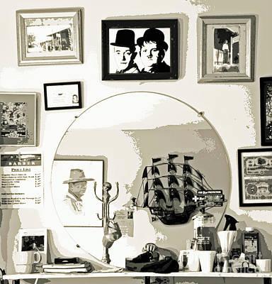 Behind The Barber Chair Art Print by Joe Jake Pratt