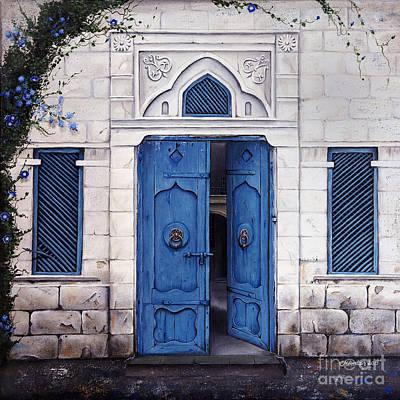 Behind The Blue Door Original by Carol Bostan
