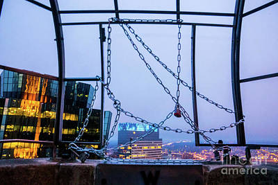 Photograph - City Behind The Chains by Tina Hailey
