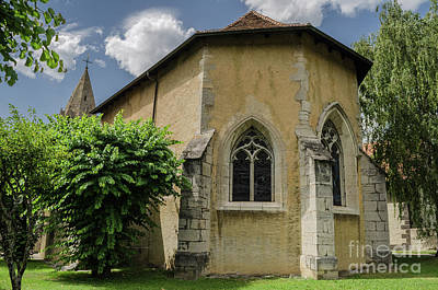 Photograph - behind the church of Aigle in Switzerland by Michelle Meenawong