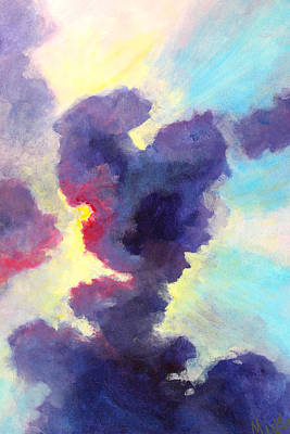 Painting - Behind The Clouds by Nancy Merkle