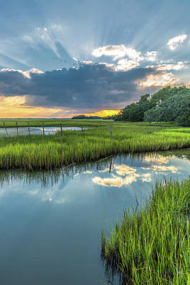 Photograph - Behind The Clouds - Seabrook Island Sc by Donnie Whitaker