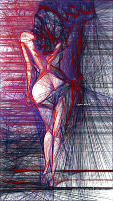 Digital Art - Behind The Curtain by Rafael Salazar