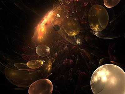 Genesis Digital Art - Behind The Curtain by Steve K