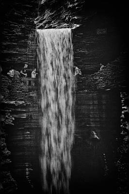Photograph - Behind The Falls by Marvin Borst