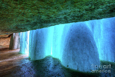 Photograph - Behind The Falls Minnehaha Falls Minneapolis Minnesota Winter Morning II by Wayne Moran
