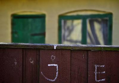 Old Door Photograph - Behind The Fence by Odd Jeppesen