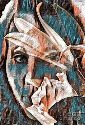 Robert Jensen Digital Art - Behind The Flower by Robert Jensen