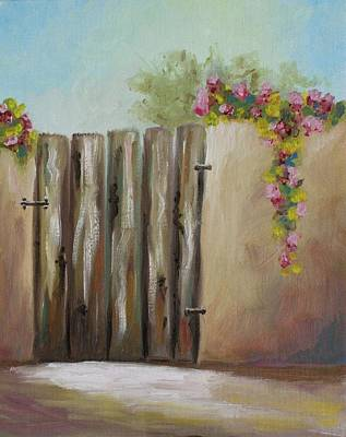 Painting - Behind The Gate by Theresa Cangelosi
