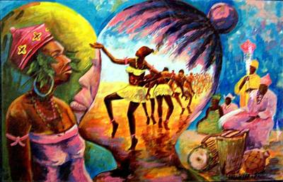 Painting - Behind The Glory by Wale Adeoye