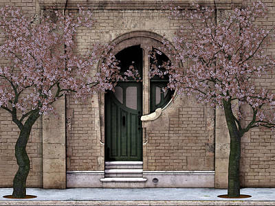 David Griffith Digital Art - Behind The Green Door by David Griffith