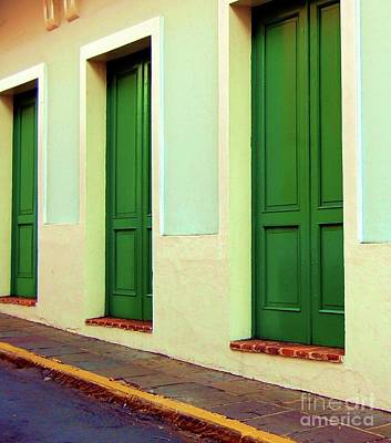 Behind The Green Doors Art Print by Debbi Granruth