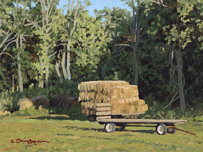 Bales Painting - Behind The Grove by Bruce Morrison