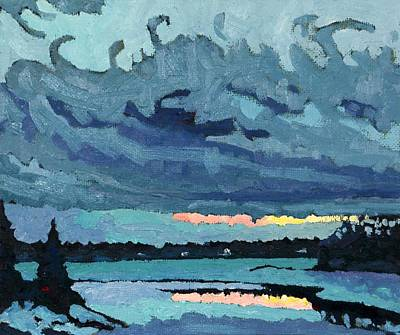 Arctic Air Painting - Behind The January Cold Front by Phil Chadwick