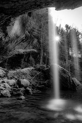 Photograph - Behind The Lower Falls - Hocking Hills by Ron Pate