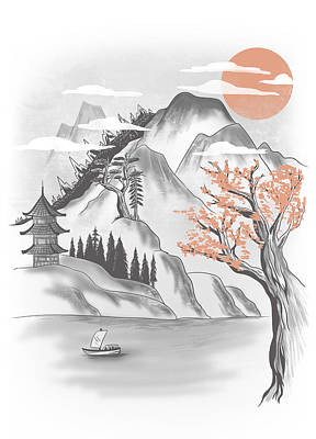 Behind The Mountain Art Print by Anggrahito Pramono