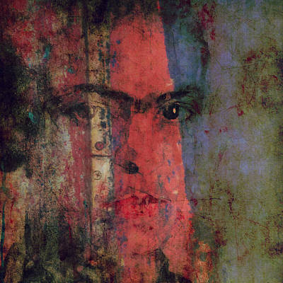 Frida Painting - Behind The Painted Smile by Paul Lovering