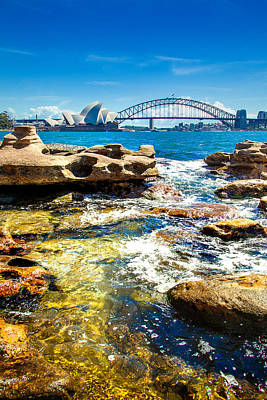 Sydney Skyline Photograph - Behind The Rocks by Az Jackson