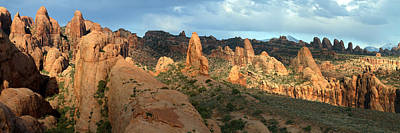 Behind The Rocks Photograph - Behind The Rocks Panoramic by Brett Pelletier