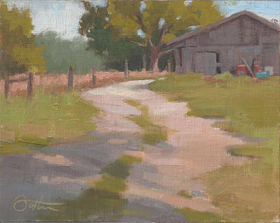 Painting - Behind The Shed by Todd Baxter
