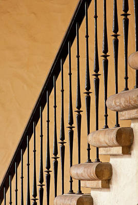 Flight Of Stairs Photograph - Behind The Stairs by CJ Middendorf