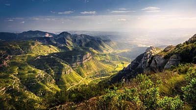 Photograph - Behind The Sunlit Mountains by Darko Ivancevic