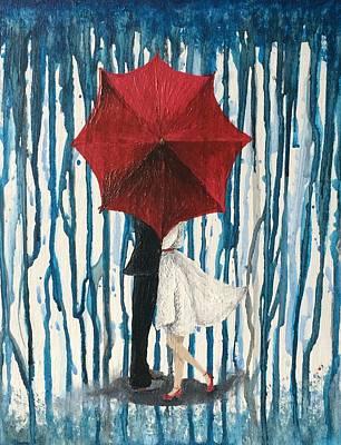 Gloom Painting - Behind The Umbrella by Haylee Reece