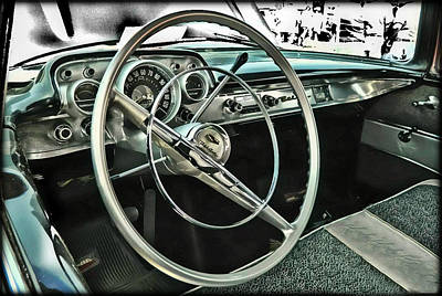 Behind The Wheel Art Print