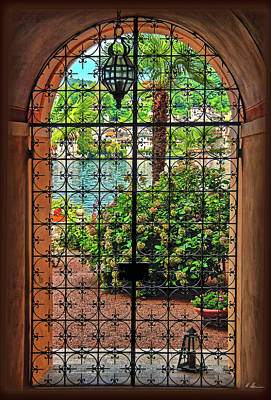 Photograph - Behind The Wrought-iron Door by Hanny Heim