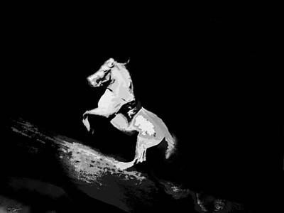 Soul Photograph - Behold... A Pale Horse by Abstract Angel Artist Stephen K