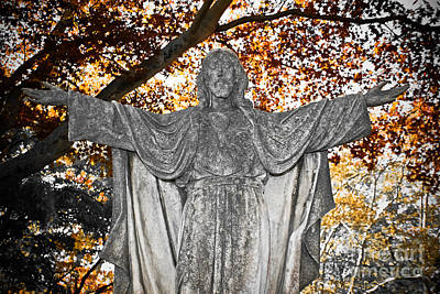 Photograph - Behold - Cemetery Art by Colleen Kammerer