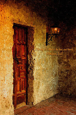 Behold I Stand At The Door And Knock Art Print