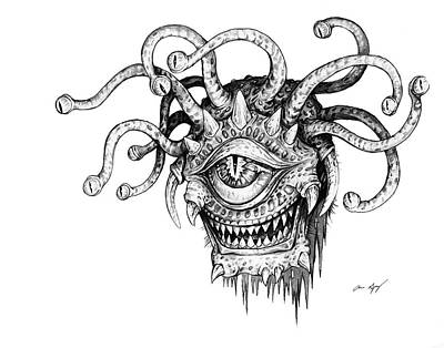 Drawing - Beholder by Aaron Spong
